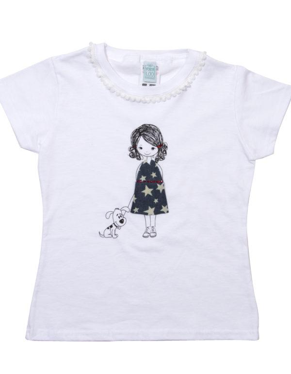 Mädchen T-Shirt Mannequin handmade - Puppenkleid Sterne